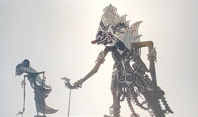 Marionnettes illustrant l'épopée du Ramayana. Photo : Luciana Penna-Diaw