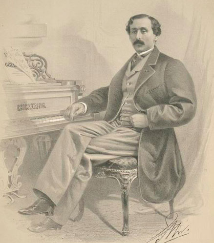 Portrait de Louis Moreau Gottschalk © NY Public Library, digital collections