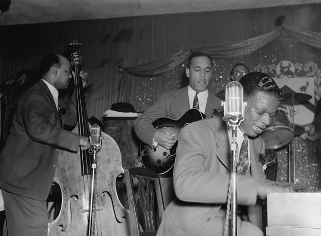 Portrait de Wesley Prince, Oscar Moore et Nat King Cole © William Gottlieb - Library of Congress