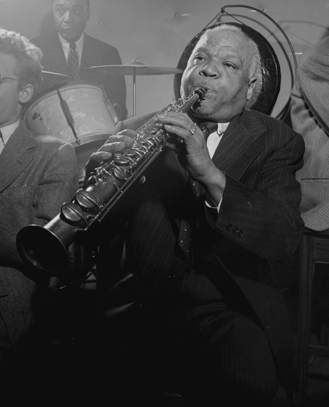 Portrait de Sidney Bechet, photographie de William Gottlieb, 1946 © Library of Congress