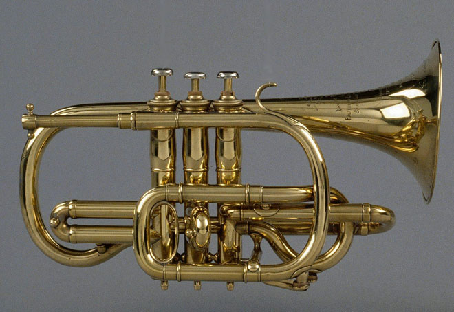 Cornet à pistons, photo de Thierry Ollivier © Philharmonie de Paris - Musée de la musique