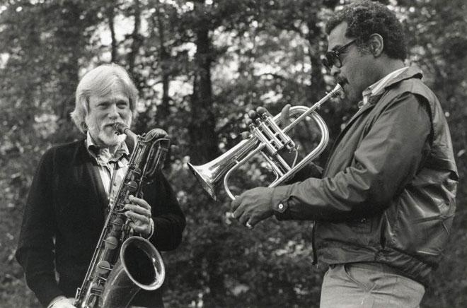 Gerry Mulligan et Art Farmer, photo de Franca Mulligan © Library of Congress