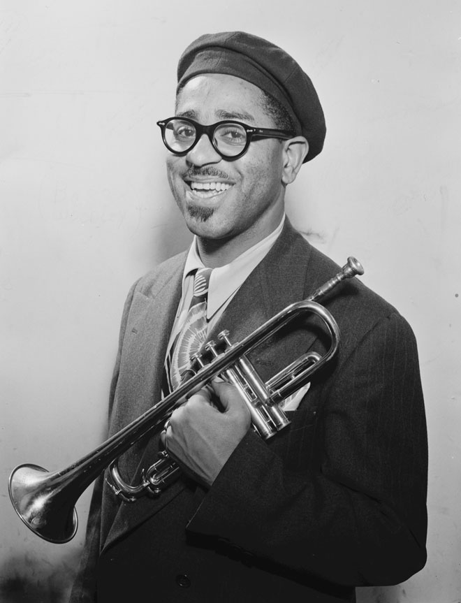 Portrait de Dizzy Gillespie, photo de William Gottlieb, 1947 © Library of Congress