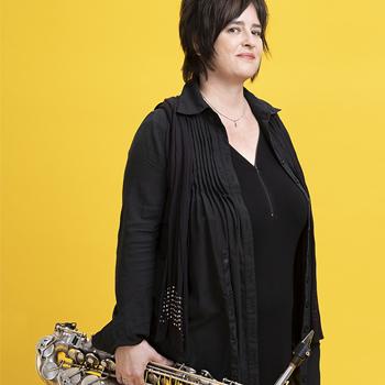 Portrait de la jazzwoman Géraldine Laurent