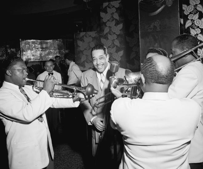 Duke Ellington et des musiciens de son orchestre © William Gottlieb - Library of Congress