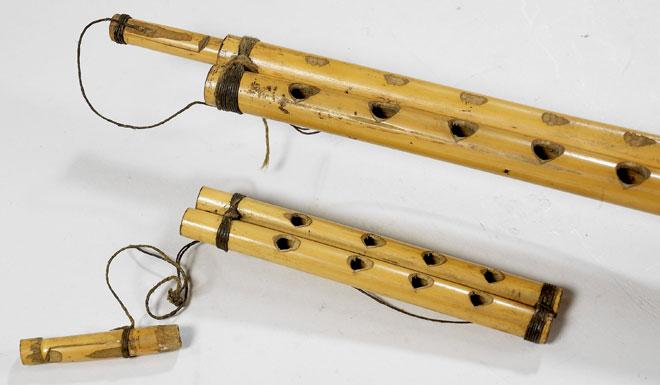 Clarinette double arghûl © Claude Germain (photo) - Musée de la musique - Cité de la musique - Philharmonie de Paris