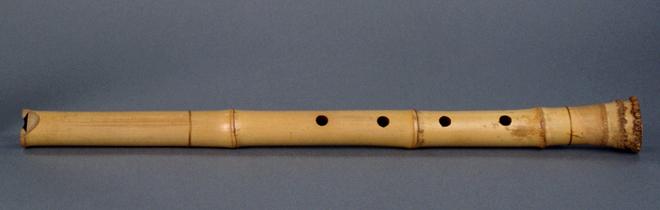 Flûte à encoche Shakuhachi. Photo: Thierry Ollivier. Source: Musée de la musique - Cité de la musique - Philharmonie de Paris