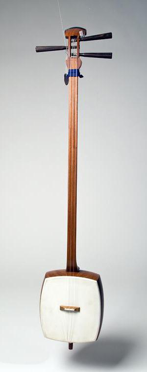 Luth shamisen. Photo: Andreas Richter. Source: Staatliche Museen zu Berlin-Ethnologisches Museum