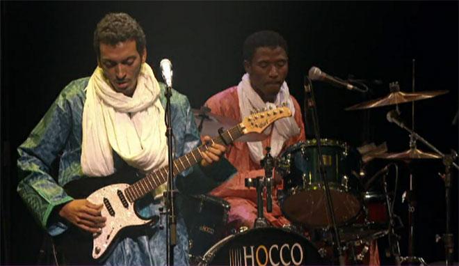 Groupe nigérien Bombino, concert Musiques Touareg enregistré salle Pleyel le 2 novembre 2012. Cité de la musique - Philharmonie de Paris