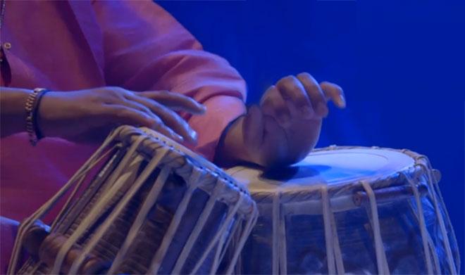 Ram Prasad Mishra (tabla), concert enregistré à la Philharmonie de Paris le 31 janvier 2015 © Philharmonie de Paris