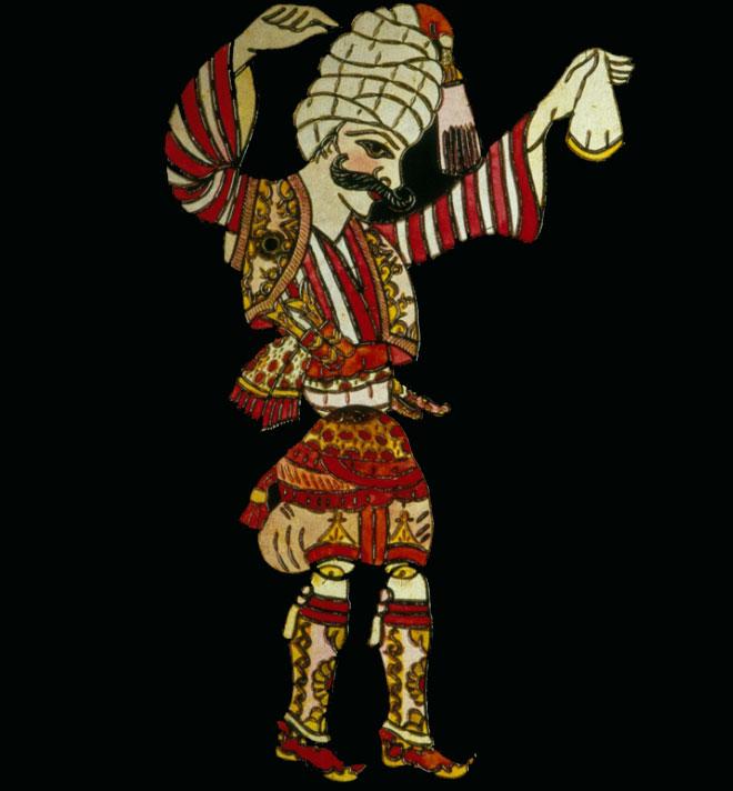 Danseur de zeybek, marionnette de théâtre d'ombre © Ethnologisches Museum - Staatliche Museen zu Berlin