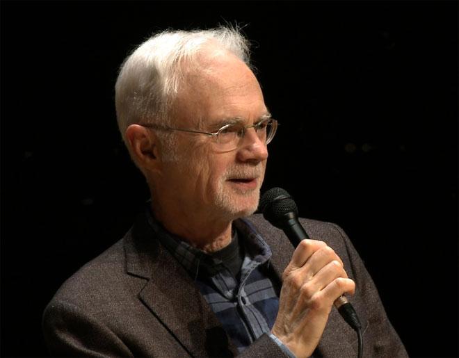 John Adams, rencontre à la Philharmonie de Paris le 10 décembre 2016 © Cité de la musique - Philharmonie de Paris