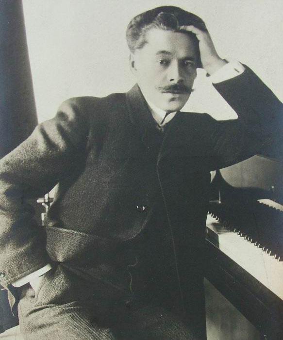 Portrait du compositeur Anton Arenski, carte postale 1910