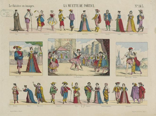 La Muette de Portici, Le théâtre en images, n°143, estampe, 1863. Gallica-BnF