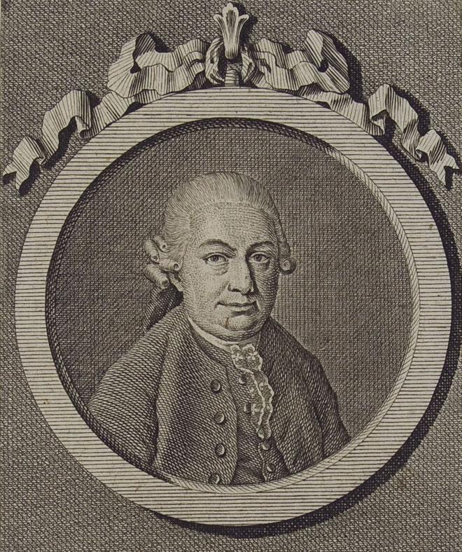 Carl Philipp Emanuel Bach, gravure de Johann Conrad Krüger, 1778. Herzog August Bibliothek Wolfenbüttel/CC BY-SA