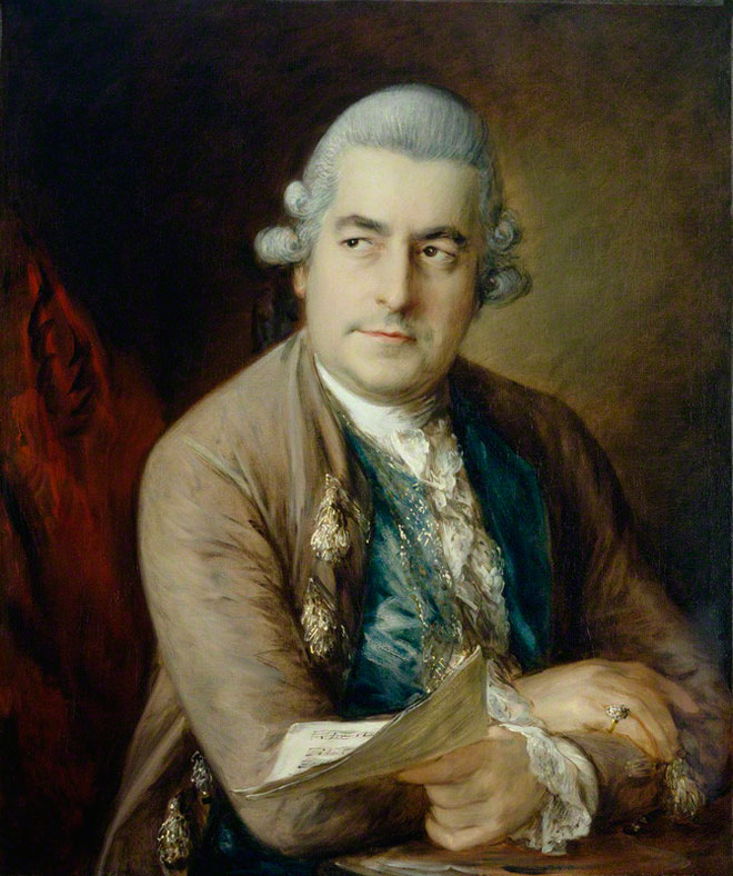 Johann Christian Bach, peinture à l'huile de Thomas Gainsborough, vers 1776. National Portrait Gallery, London/CC BY-NC-ND