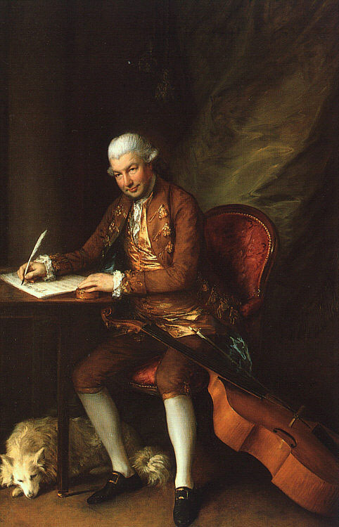 Portrait de Carl Friedrich Abel, peinture à l'huile de Thomas Gainsborough, 1777. Huntington Library