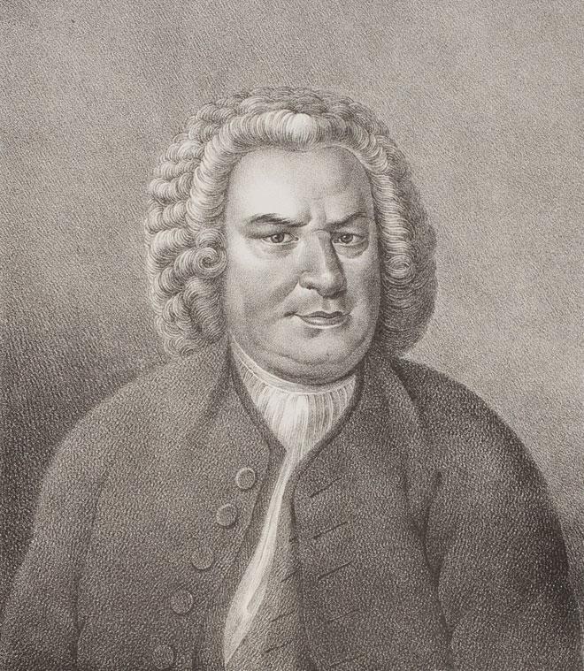 Portrait de Johann Sebastian Bach. Herzog August Bibliothek Wolfenbüttel