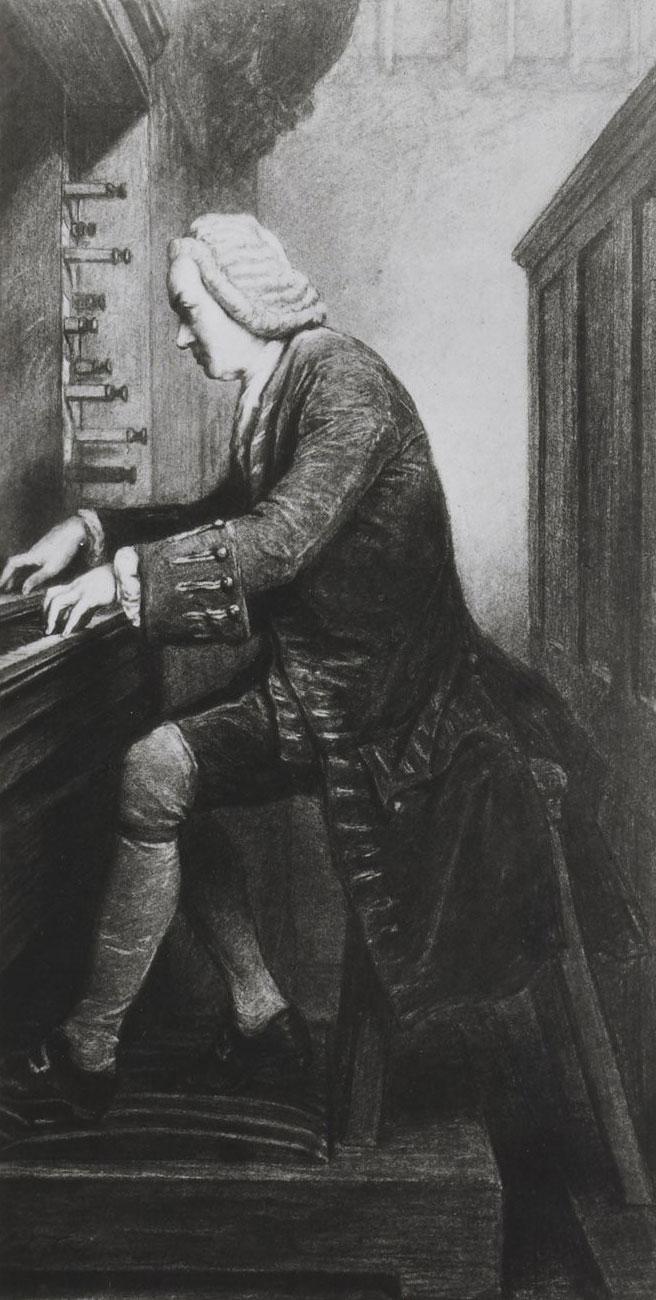 Edouard Hamman, portrait de Johann Sebastian Bach. Gallica - Bnf