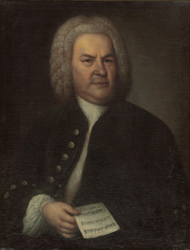 Portrait de Johann Sebastian Bach, par Elias Gottlob Haussmann, 1746. Stadtgeschichtliche Museum Leipzig/CC BY-NC-SA 3.0 DE