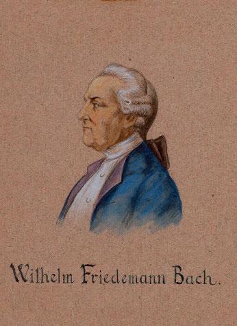 Portrait de Wilhelm Friedemann Bach, par E. Fiorentino. NY Public Library digital collections