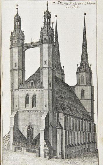 La Liebfrauenkirche de Halle. DR