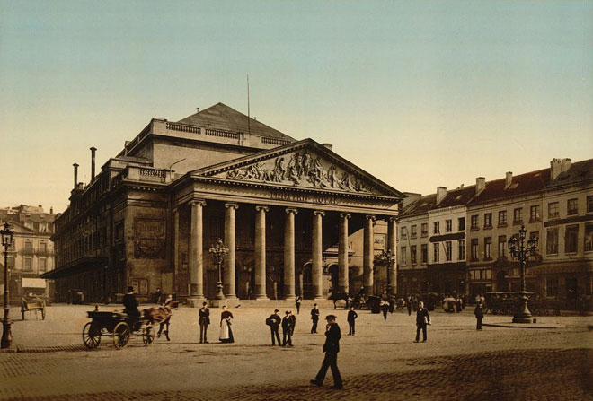 Bruxelles, théâtre royal de la Monnaie © Library of Congress