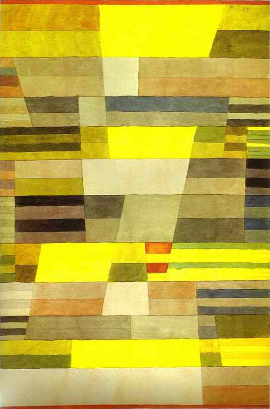 Monument en pays fertile, de Paul Klee, 1929 © Zentrum Paul Klee, Bern