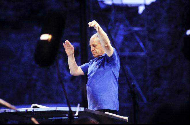 Photographie, Répons, musique de Pierre Boulez, Festival d'Avignon, 1988, Daniel Cande © Gallica BnF