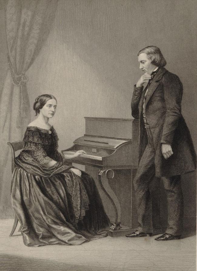 J. Schuberth (Leipzig) : Clara und Robert Schumann, 1850 © Gallica-BnF