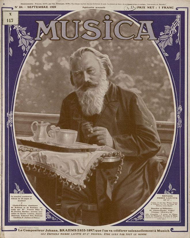 Couverture Revue Musica, n°84, Septembre 1909 © INHA, Bibliothèque des Arts décoratifs