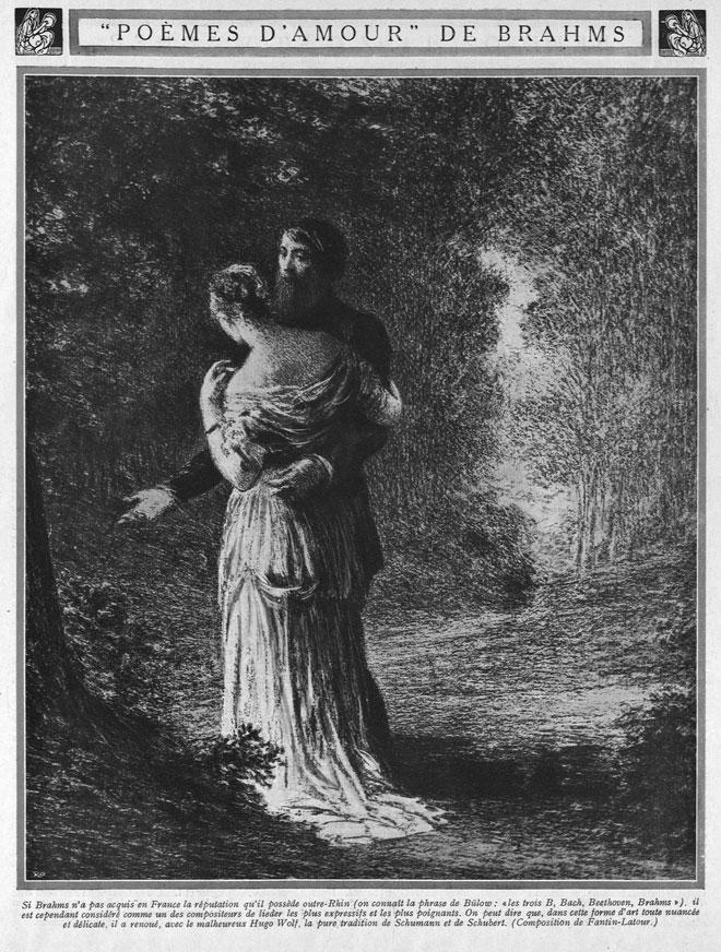 Poèmes d'amour de Brahms, Revue Musica, n°130, Juillet 1913 © INHA