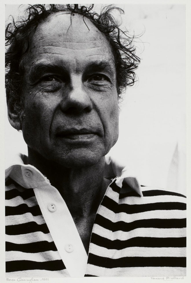 Merce Cunningham, portrait de Fernand Michaud, 1986 © Gallica-BnF