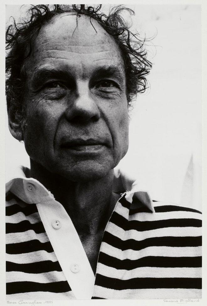 Merce Cunningham, portrait de Fernand Michaud, 1986 © Gallica-BnF
