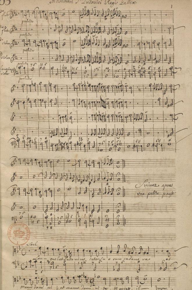 Marc-Antoine Charpentier, manuscrit autographe des Mélanges © Gallica BnF