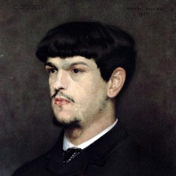 Portrait du compositeur Claude Debussy d'après le portrait de Marcel Baschet 1884 © BnF