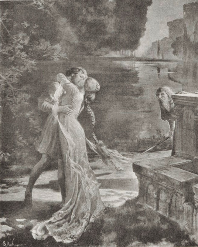 Pelléas et Mélisande / d'après l'affiche de Rochegrosse (1902) ©bnf