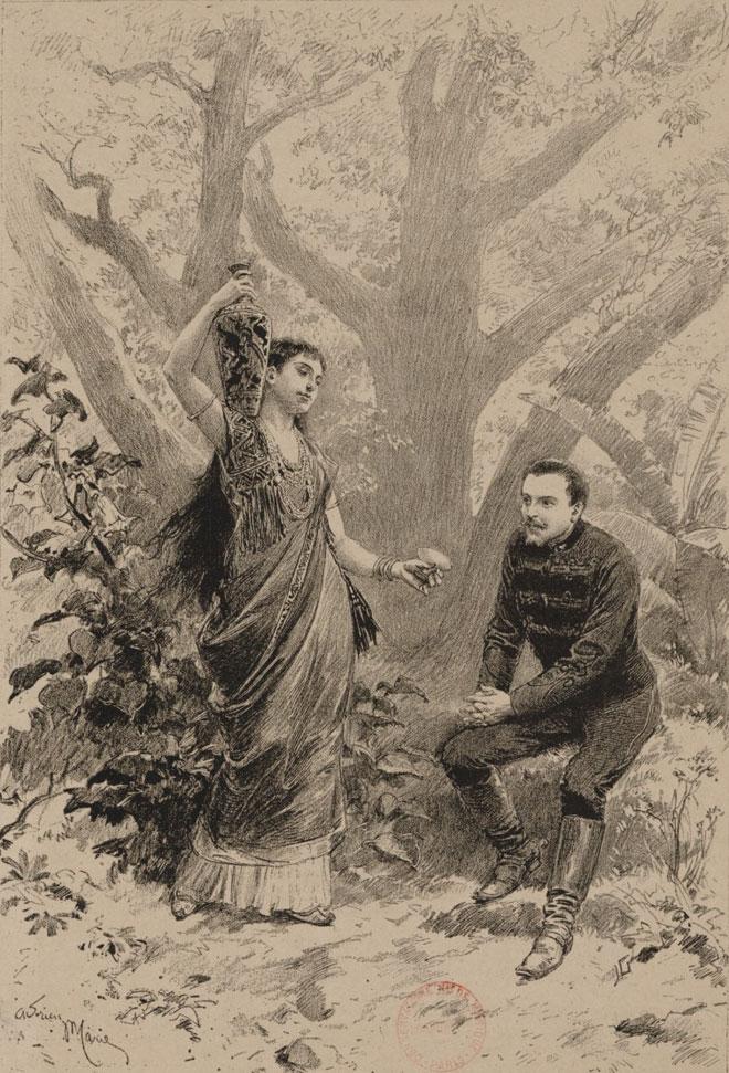 Duo du troisième acte de Lakmé de Léo Delibes © Gallica-BnF