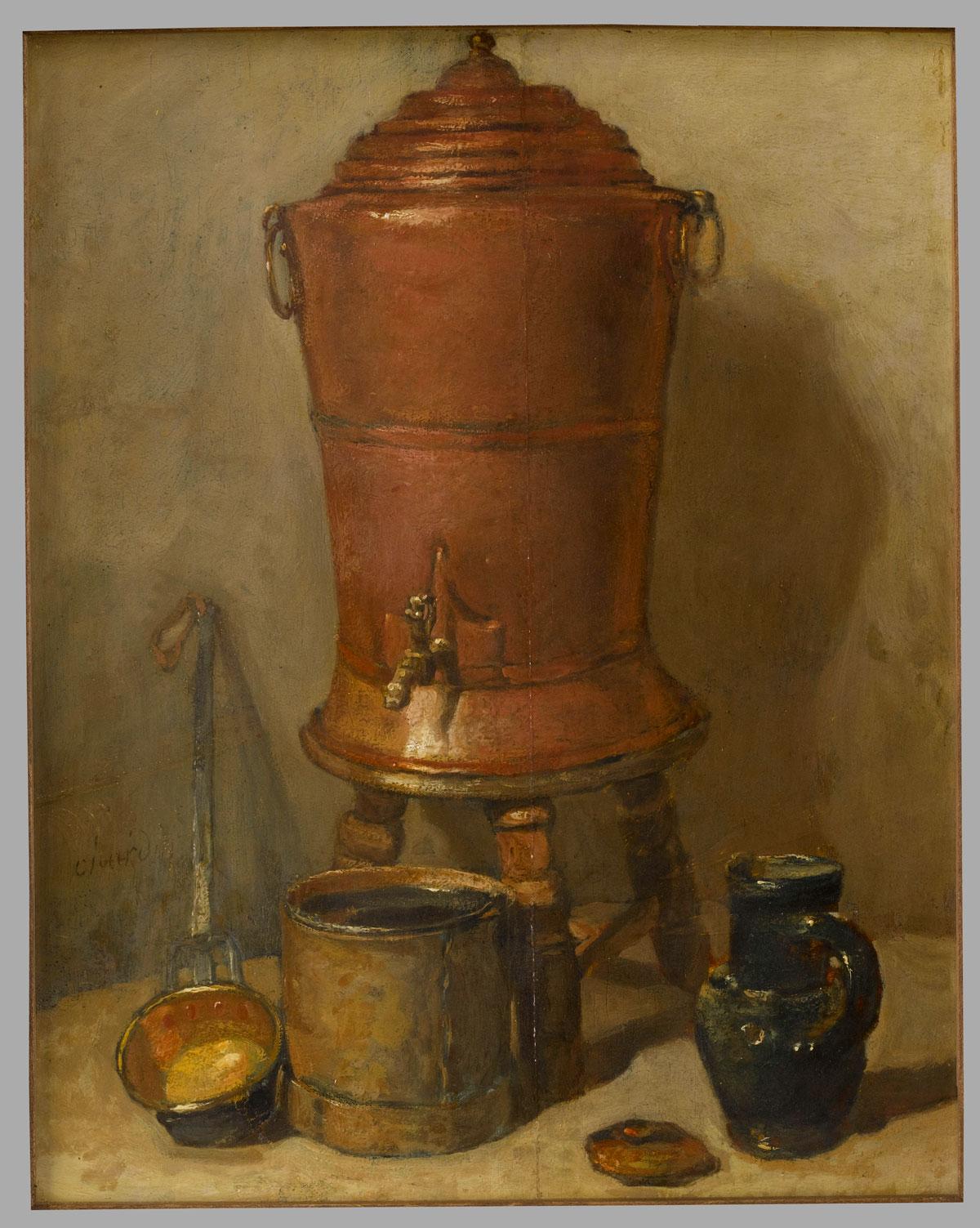 La Fontaine de cuivre, Jean-Simeon Chardin © Musée du Louvre