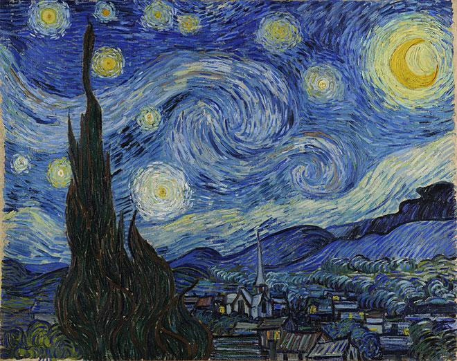 Van Gogh, La nuit étoilée, 1889 © MoMa, New York