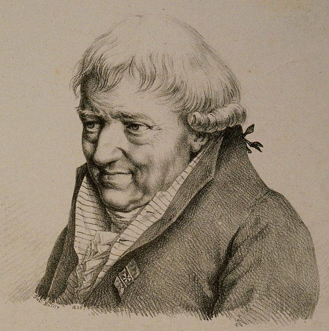 Portrait de François-Joseph Gossec, lithographie de Jules Boilly, vers 1820 © Jean-Marc Anglès (photo) - Philharmonie de Paris - Musée de la musique