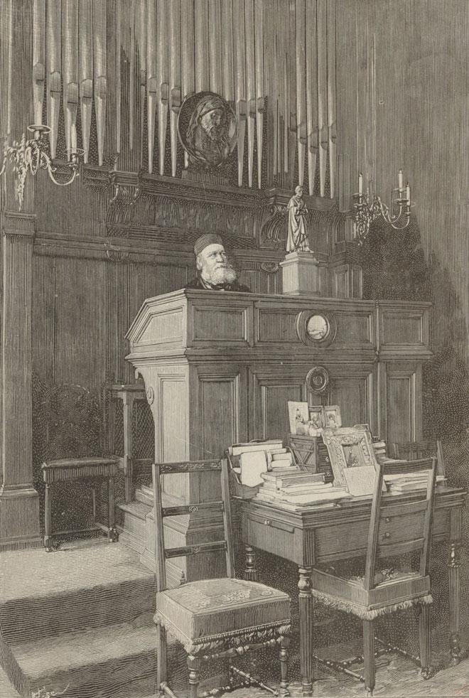 D'après une photographie de Dornac, Charles Gounod à l'orgue de son domicile © Gallica-BnF