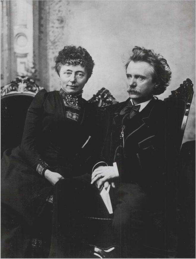 Edvard et Nina Grieg, vers 1886 © Bibliothèque municipale de Bergen, Norvège