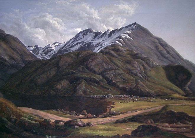 Vue de Svartediket près de Bergen, peinture de Jacob Calmeyer, 1831 © National Gallery, Norvège
