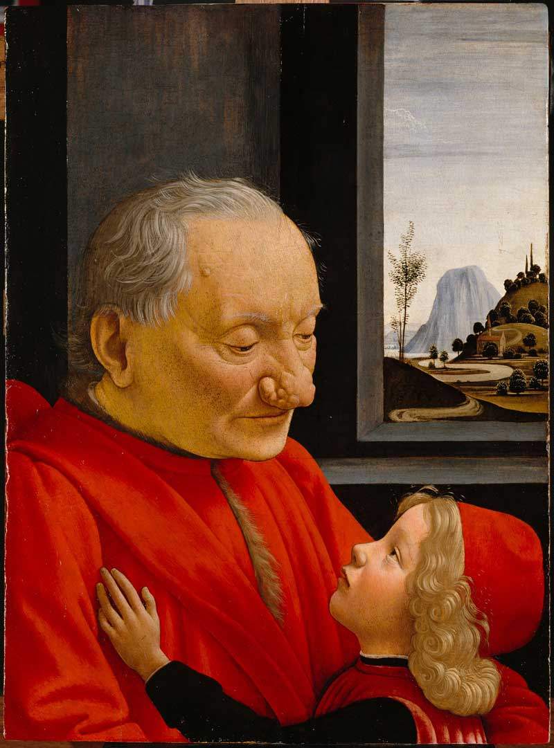 Portrait d'un vieillard et d'un jeune garçon, Ghirlandaio © Musée du Louvre
