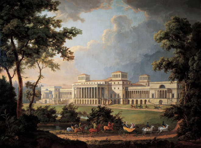 Albert Christoph Dies, Projet de jardin pour le palais Esterhazy, 1812 © Esterhazy Privatstiftung