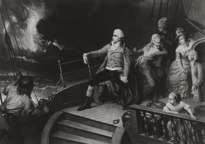 Haydn se rendant en Angleterre © Gallica BnF
