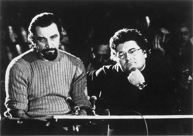 Maurice Béjart et Pierre Henry, festival d'Avignon 1967 (répétition), création de la Messe pour un temps présent