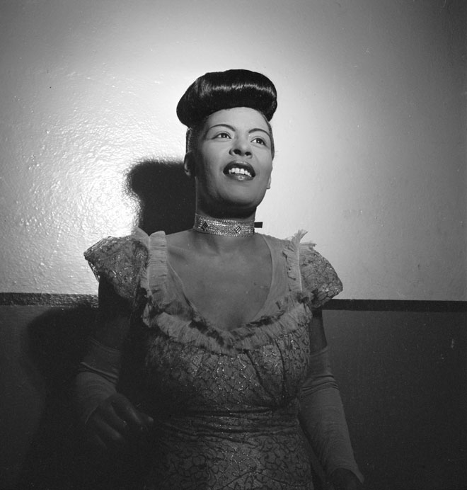 Portrait de Billie Holiday à Carnegie Hall entre 1946 et 1948 © William Gottlieb (photo) -Library of Congress