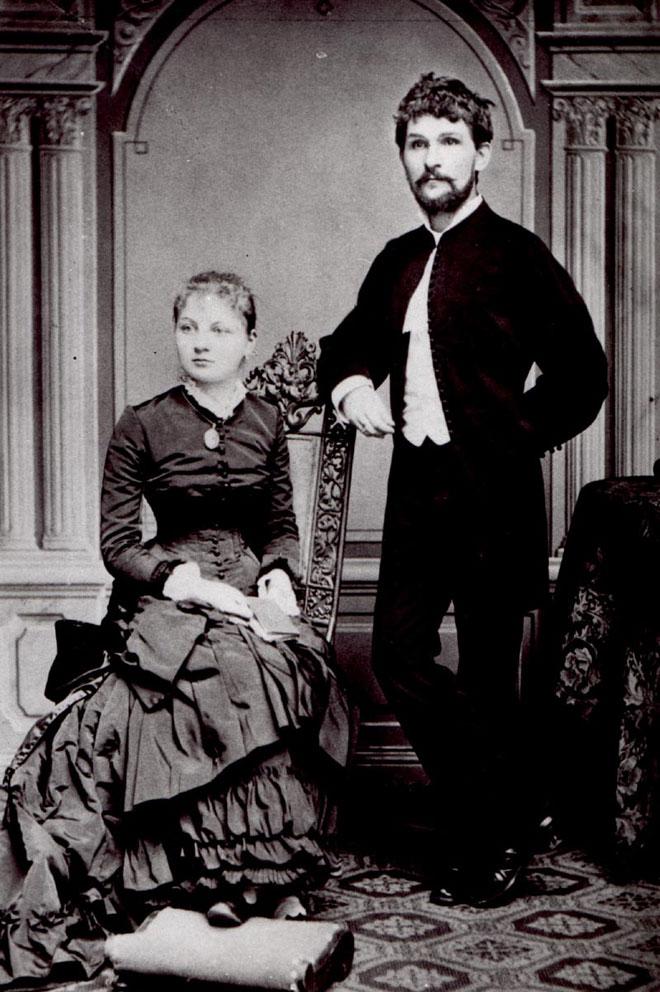 Leoš Janáček et sa femme en 1881 © DR